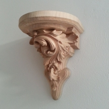 Wood carving: Wall Bracket. carved in Lime wood