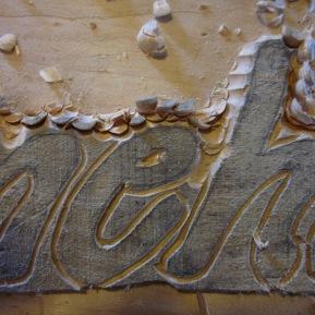 Raised lettering