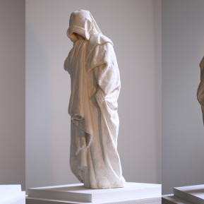 Modelling & Casting: Mourner - based on original designs by Claus Sluter. Modelled in clay and cast in plaster
