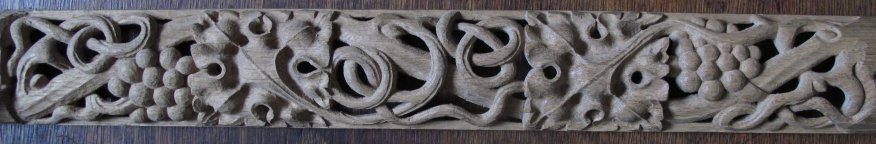 Wood carving: Gothic pierced running ornament. Carved in Oak